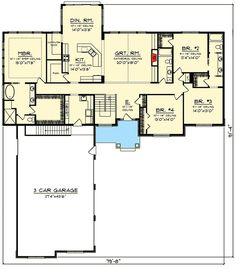 Plan Northwest House Plan with Lots of Amenities - Home Decoration Styling Best House Plans, Dream House Plans, Small House Plans, House Floor Plans, Four Bedroom House Plans, Architectural Design House Plans, Architecture Design, Small House Decorating, Bonus Rooms