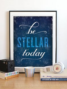 An easy way to freshen things up each season is by adding a new print to the mix. Ahead, check out some geeky art posters that'll inspire you to go out and Galaxy Decor, Star Science, Inspirational Posters, Deep Space, Typography Prints, Encouragement Quotes, Night Skies, Geek Stuff, Neon Signs