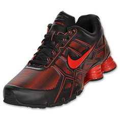 78d11785957b61 The Nike Shox Turbo 12 SL men s running shoes. Black and red all day!