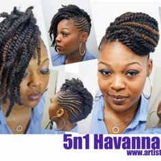 5 n 1 by the Hair Artist, Nancy! Serving Houston and San Antonio area - Natural Hair Care Tips, Natural Hair Styles, Short Hair Styles, Natural Beauty, Twist Styles, Braid Styles, Hype Hair, Dope Hairstyles, Natural Hair Inspiration