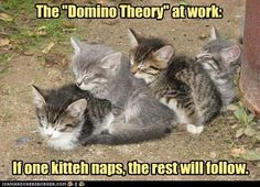 "The ""Domino Theory"" at work."