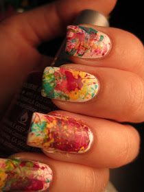 Jessica's Nail Art: Splatter Nail Art Tutorial