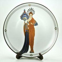 Athena House of Erté The Franklin Mint Fine Porcelain Decorative Plate Sevenarts LTD HA4801
