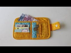 Clutch Pattern, Backpack Pattern, Wallet Pattern, Simple Gifts, Easy Gifts, Fabric Wallet, Purse Tutorial, Diy Videos, Free Sewing