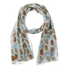Lisa Buckridge Shruti cute hedgehog scarf blue in Clothes, Shoes & Accessories, Women's Accessories, Scarves & Shawls | eBay