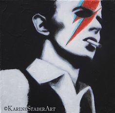 #KarineStader #KarineStaderArt #Painter #Art #Artist #Portrait #DavidBowie #Bowie4Ever #BowieTribute #BowiePainting