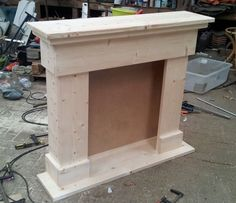 Faux Fireplace Mantels, Christmas Fireplace, Fireplace Surrounds, Fireplace Design, Diy Christmas, Christmas Decorations, Furniture Makeover, Diy Furniture, Cardboard Furniture