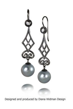 From our Metropolitan Collection, the Garden Gate earrings with Tahitian pearls and diamonds.