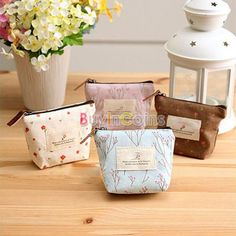 Flower Canvas Purse Lovely Sweet Women Lady Girl Coin Cash Pouch Wallet Bag -- BuyinCoins.com