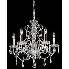 Are you looking for a chandelier that's dripping with crystals?