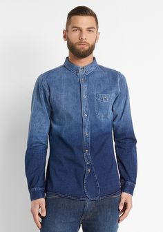 NATIVE YOUTH Dip Dye Denim Shirt