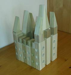 Salt Lake Temple built from wooden blocks