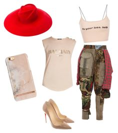 """Untitled #8"" by imani-ciera on Polyvore featuring RVDK, Gucci, Christian Louboutin and Balmain"