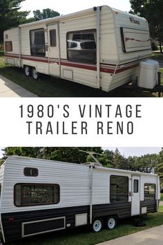 1987 Vintage to Modern Camper Reno *** Whether you love hiking, camping, tracking, fishing or staying home or in the garden, will find a lot of useful gardgets for your enjoyable activities *** Camper Diy, Camper Ideas, Rv Redo, Travel Trailer Remodel, Trailer Diy, Small Campers, Campers For Sale, Camper Renovation, Camper Remodeling