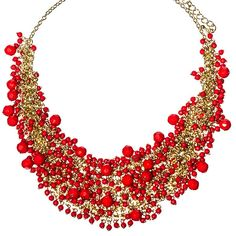 Red Beaded Beauty Necklace