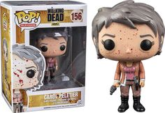 Funko Pop! #156 - Blood Splatter Carol Peletier (Hot Topic Exclusive) - The…