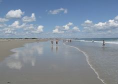 Ogunquit, Maine beach. Water was 51 degrees F when we started swimming; 57 degrees when we stopped.