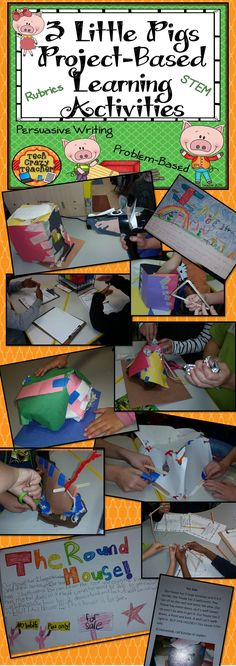 3 Little Pigs Project-Based Learning Activities: persuasive writing, STEM, Problem-Based, and Project-Based Learning all in one! $