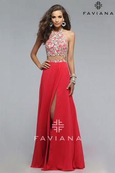 Faviana Dress 7716 | Terry Costa Dallas terrycosta.com #Prom2016 #TwoPiecePromDresses #FavianaProm