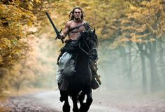 Jason Momoa on a horse....
