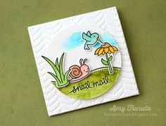 Lawn Fawn - Gleeful Gardens, Circle Stackables _ beautiful card by Amy via Flickr
