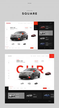 Square – Toyota Experience on - Web Design, UI, and UX Inspiration - Cars Website Design Inspiration, Website Design Layout, Design Blog, Web Layout, Page Design, Layout Design, Design Ideas, Interaction Design, Ui Ux Design