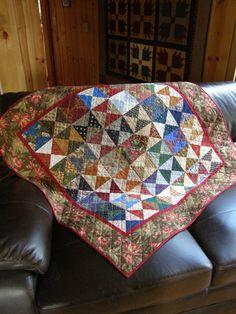 Grandmother's Rustic Scrap Quilt by MoonDanceTextiles on Etsy, $63.00