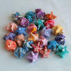 fabric origami stars