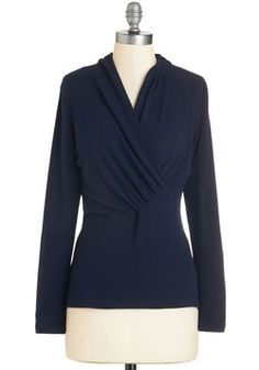 Surely and Simply Sweater. Rest assured that this navy-blue sweater will make any look lovely! #blue #modcloth