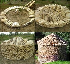 Stacking firewood