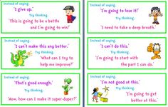 Positive Turnarounds (4 pge word doc)  Some little cards to remind kids of the value of positive self talk instead of the other thing!