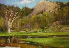 SOLD I Alpine Lake I 5x12 I Dix Baines I Fine Artist Original Oil Paintings I Mountains I www.dixbaines.com