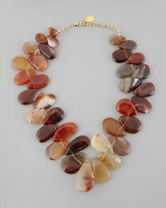 Freeform Carnelian Up-Down Chunky Necklace by Devon Leigh at Neiman Marcus.