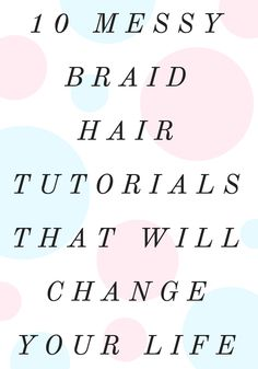10 Messy Braid Hair Tutorials That Will Change Your Life Medium Hair Braids, Long Box Braids, Messy Braids, Medium Hair Styles, Braid Hair, Long Hair Styles, Ponytail, Crown Braids, Loose Braids