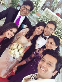 Genelia and Riteish Deshmukh attend Nigel D'Souza's wedding. #Bollywood #Fashion #Style #Beauty #Handsome