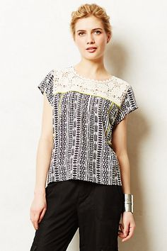 brighten up the b&w print with lace & pop of yellow