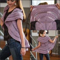 Knitting Patterns Vest The Stevens Vest knitting pattern is a cable lover's dream in the form of a circular sweater. Cable Knitting Patterns, Knit Vest Pattern, Looks Great, Shawl, Sweaters, Flower, Unique, Fashion, Knits