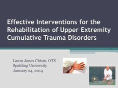 Effective Interventions for the Rehabilitation of Upper Extremity Cumulative…