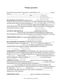 Sample Freelance Contract Templates   Free  Sample  Example     Template net Freelance Writer Resume samples