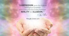 """Compassion gives the highest intelligence possible and it blurs the boundary between reality and illusion."" - Dr. Pillai  #Compassion #Navaratri"