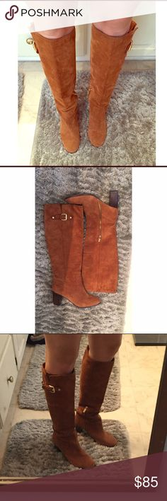 Michael Kors Boots Size 7 1/2 Pre owned but in good condition. Box not included because I lost it. Pictures show accurate condition. In second picture where it looks like a line that is a shadow while I was taking picture. Michael Kors Shoes Heeled Boots