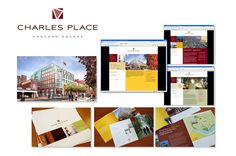 Brand identity, web design, and collateral for an office development project, Charles Place, in Harvard Square