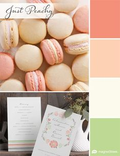 My favorite wedding color palette: Just Peachy | MagnetStreet Weddings #winMSW