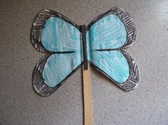 Printable Morpho Butterfly craft for Rainforest theme