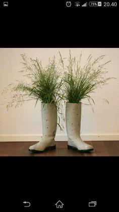 Senent gummistøvler, som vase