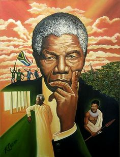The Eyes of Madiba - painting by Keith Conner-http://www.kcart1.com/
