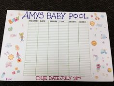 1000 images about baby pool ideas on pinterest baby for Guess the baby weight template