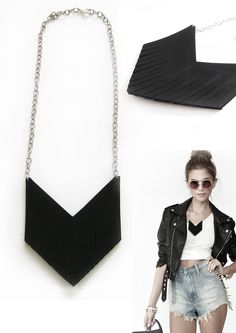 rubber fringes necklace!