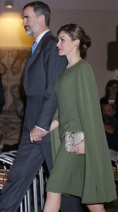 King Felipe of Spain and Queen Letizia of Spain attend 2016 Innovation and Design Awards on February 6, 2017 in Alcala de Henares, Spain.
