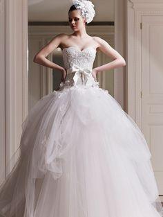 HotCustomized Vestidos De Novia Strapless Zuhair Murad Ball Gown Wedding  Dress 2015 Romantic Bridal Gown with c9036a1f970c